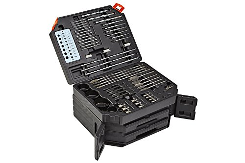 PM-1350 Drill Bit Set | 300 pc Nail Drill Bits Impact Driver Kit | Complete Masonry Craftsman Power Tool Accessories for Quick Connect Drilling | Black Compartment Storage Case by BORA PORTAMATE