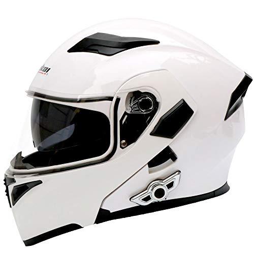 Skyout Motorcycle Bluetooth Helmet Multi-Function Flip Helmet DOT/ECE Certified Anti-Fog Double Mirror Automatic Answer Bluetooth Helmet