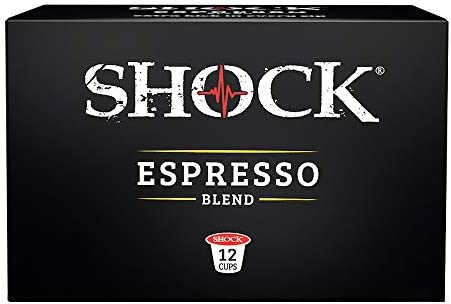 Shock Coffee Espresso Single Serve Cups 12 count Compatible with Keurig K Cup Brewers 2 0 product image