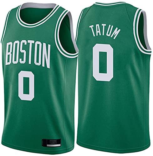 Movement Boston Celtics # 0 Jersey de Baloncesto para Hombre Jayson Tatum, 2021 All-Star sin Mangas de Ropa Deportiva y Camisa de Manga Corta, Entrenamiento Transpirable Cami(Size:3XL,Color:G4)