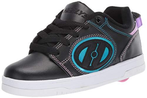 Heelys Damen Voyager (he100604) Sneaker, Schwarz (Black/Pink/Rainbow Foil Black/Pink/Rainbow Foil), 39 EU