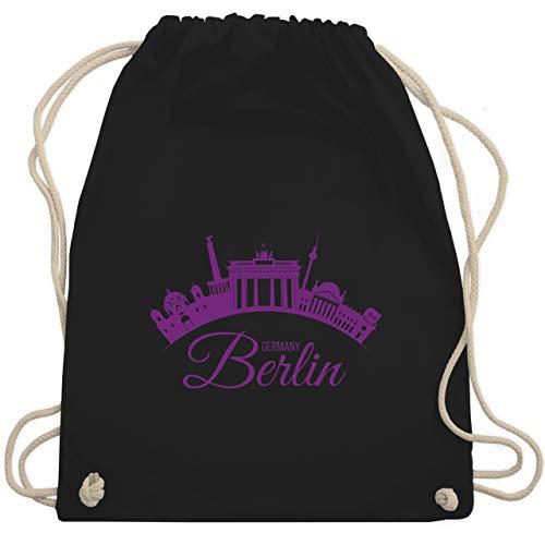 Skyline - Skyline Berlin Deutschland Germany - Unisize - Schwarz - gym-bags berlin - WM110 - Turnbeutel und Stoffbeutel aus Baumwolle