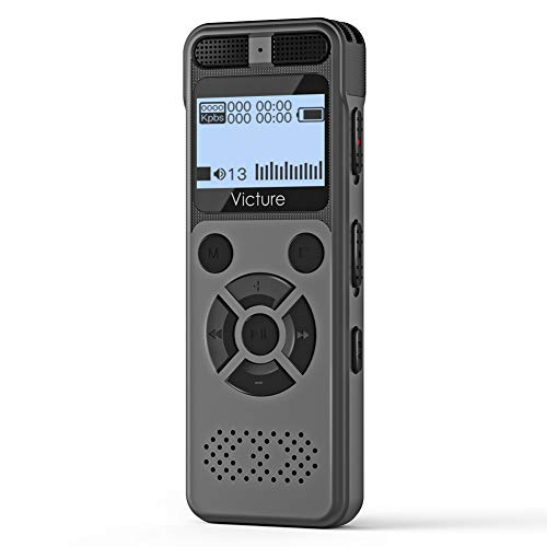 Victure Digital Voice Recorder 8G Voice Activated Recorder with MicroSD Card Slot Up to 64GB USB Mini Tape Dictaphone for Lectures Meetings Interviews MP3 Music Recording Playback
