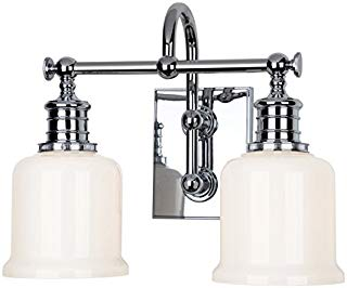 Hudson Valley Lighting 1972-PC Two Light Bath Bracket from The Keswick Collection, 2, Polished Chrome
