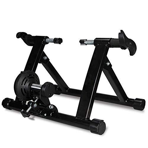 ZXCVB Entraîneur De Vélo,Home Trainer Bicyclette,freinage Magnétique,avec Roue De Réduction du Bruit,Pliable pour Un Rangement Facile,Black-36.8-38inches