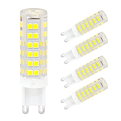 5er Pack G9 LED Lampe Kaltweiß 7W ersetzt 60W 65W Halogen Glühbirne, LED Leuchtmittel 360°Abstrahlwinkel 220-240V 600LM Birne