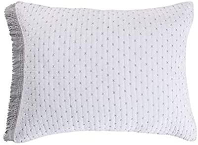 Bee Willow Home Holden Standard Pillow Sham In White Home Kitchen