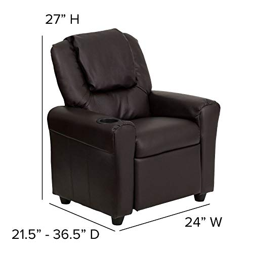 Flash Furniture Contemporary Leather Kids Recliner