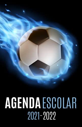 Agenda Escolar 2021-2022 futbol: Agendas 2021-2022 dia por pagina | Planificador diario para niñas y niños | Material escolar colegio secundaria estudiante | Portada Balón