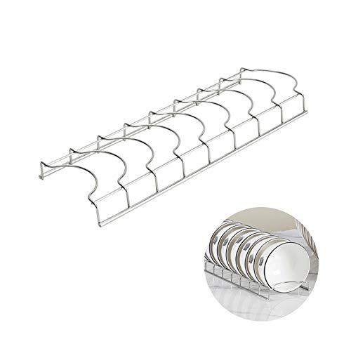 TAMRG Escurreplatos de acero inoxidable para cocina, de pie para platos y cubiertos, utensilio de cocina, 3,5 cm de distancia