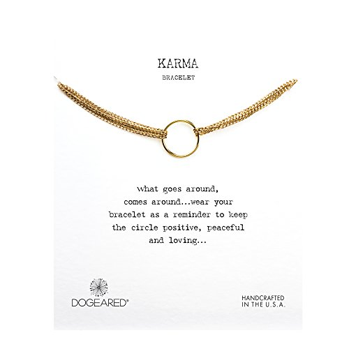 Dogeared Karma Four Strand Boxed Bracelet (gold-plated-silver)
