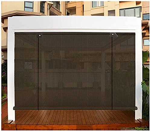 Datenschutz Gartenzaun Außen Rolltore Jalousien Durchscheinende Sonnenschutzisolierung Abkühlen Regenfest Aufprallfrei Für Veranda Pergola Fenster