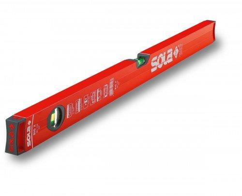 Sola BIG X Rohrprofil-Wasserwaage 60 cm - Messwerkzeug zum messen markieren - Blendfreies Arbeiten und leichtes Ablesen der Messergebnisse durch reflexionsfreie Lackierung