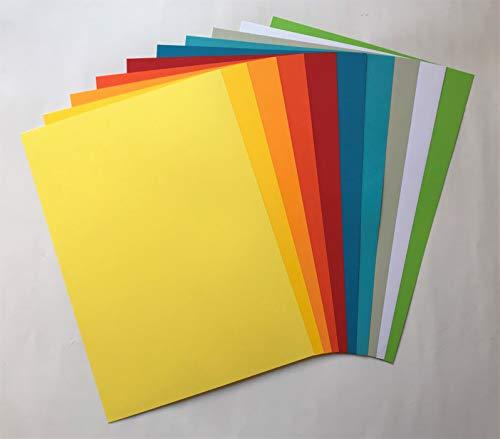 50 Blatt Qualitätspapier (10 Farben x 5 Blatt) / Farbpapier/Kopierpapier A4 SONDERMIX 160g/qm Coloraction