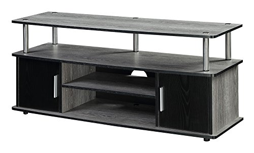 Convenience Concepts Designs2Go Monterey TV Stand, Weathered Gray / Black