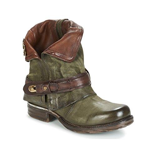 airstep / a.s.98 Saint Bike Stiefelletten/Boots Damen Kaki - 42 - Boots Shoes