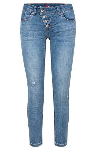 Buena Vista Jeans Malibu 7/8 Stretch Denim in Blau, Größe L