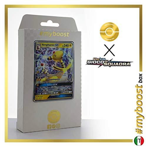 Ampharos-GX 43/181 - #myboost X Sole E Luna 9 Gioco di Squadra - Doos met 10 Pokemon Italiaanse kaarten