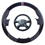 Wongzt Cubierta de Volante de Coche Personalizada, para Nissan Almera N16 Pathfinder Primera XTrail 2001-2006 Renault Samsung SM3 Trenza de dirección