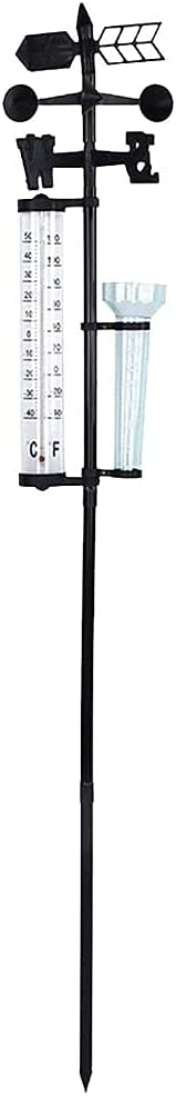 Free shipping New vegan Rain Gauge Outdoor Thermometer Wind Garde Indicator Max 85% OFF 3 1 in