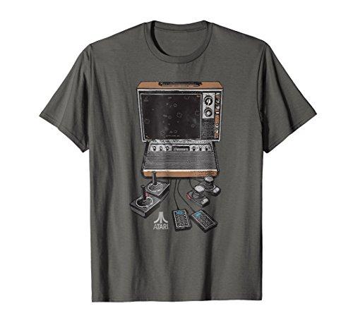 Atari VCS/2600 Console and TV T-shirt, for men, women, S to 3XL