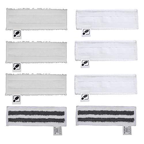 DEYF 3 Neue Mikrofaser-Bodentücher + 3 Frottee-Mikrofaserabdeckungen + 2 Mikrofaser-Schleifboden-Bodentuch-Set für Kärcher-Dampfreiniger SC2, SC 3, SC4, SC5 easyfix-Bodendüse
