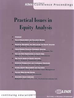 Practical Issues in Equity Analysis