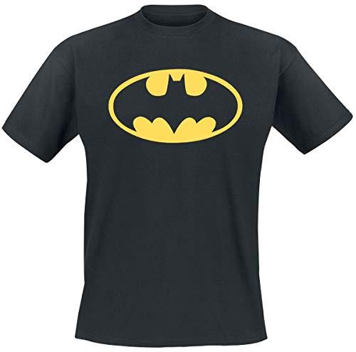 Collectors Mine Herren T-Shirt BATMAN-LOGO, Gr. Large, Schwarz