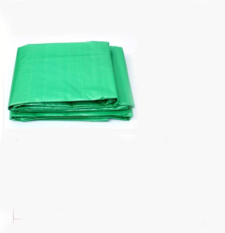 Greenhouse Shade Cloth, Tarpaulin Tarpaulin PE Tarpaulin Padded Rainproof Cloth Sunshade Sunscreen Cloth car Tarpaulin Green (Size   5m7m) (Size   6m8m)