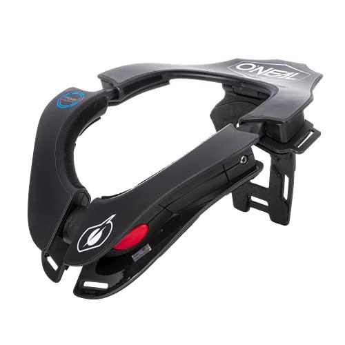O'Neal   Protector de Motocross   MX MTB Moto Enduro   2 zonas ajustables, 2 almohadillas delanteras, mecanismo de bloqueo   Tron Neckbrace Solid   Adultos   Negro   Talla única