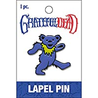 "GRATEFUL DEAD METAL LAPEL PIN - Groovy Blue Dancing Bear, Premium Quality Metal Lapel PIN - 1.25"" x 1.32"""