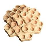 Sharplace 31 Steckplätze Halterung für ätherische Öle Aus Holz Lagerregal Aromatherapie