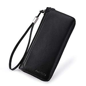 Women Leather Wallet Rfid Blocking Large Capacity Zipper Around Travel Wristlet Bags 30
