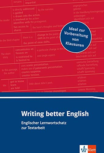 Writing better English: Lernwortschatz zur Textarbeit