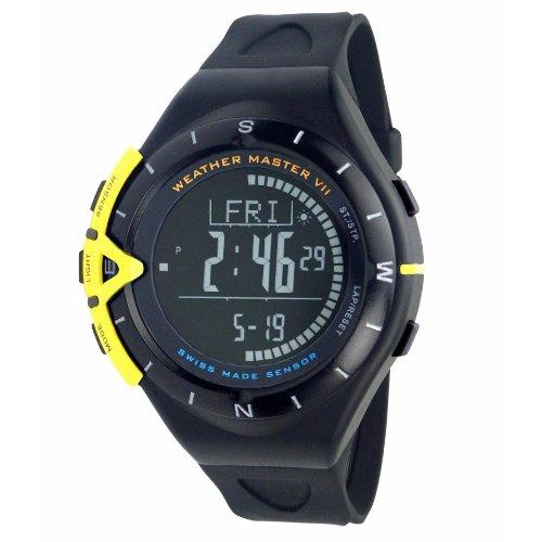 Madison New York Candy–Reloj Multifunción Reloj Hombre Altura Cuchillo Weather Master Digital Negro