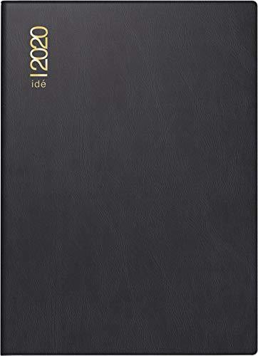 rido/idé 701300290 Taschenkalender perfect/Technik I (2 Seiten = 1 Woche, 100 x 140 mm, Kunststoff-Einband, Kalendarium 2020) schwarz