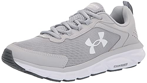 Under Armour mens Charged Assert 9 Running Shoe, Mod Gray (101 White, 10.5 US