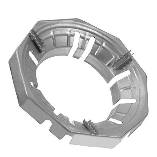 Cabilock - Anello per fornello a gas, in acciaio inox, supporto ad anello per fornello a gas, per cucina, hotel, piano cottura a gas, padella, caffettiera, argento