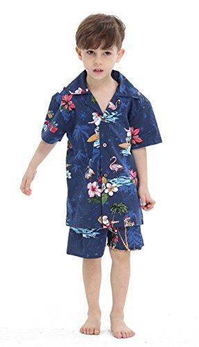 Hawaii Hangover Chico Camisa de Aloha Luau Camisa de Navidad Cabana en Santa Marina 8 años