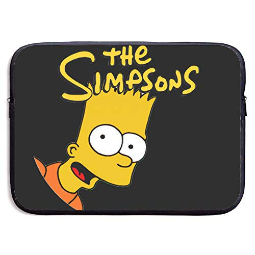 Bart Simpson Laptop Bag 15 Inch Sleeve Case Neoprene Protective Case/Notebook Computer Pocket Case/Tablet Briefcase Carrying Bag Compatible/Soft Carrying Zipper Bag 13 Inch