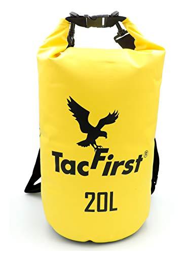 TacFirst Dry Bag Sac de Transport étanche avec Fermeture Rapide Jaune 20 l