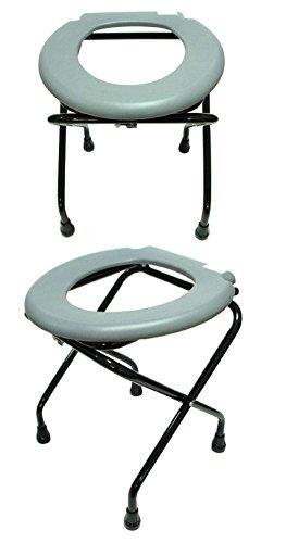New day-Genérico sienta la silla plegable Tocador fuerte anciano sentado higiénico silla taburete de la mujer embarazada se sienta Mierda Tocador taburete silla de WC
