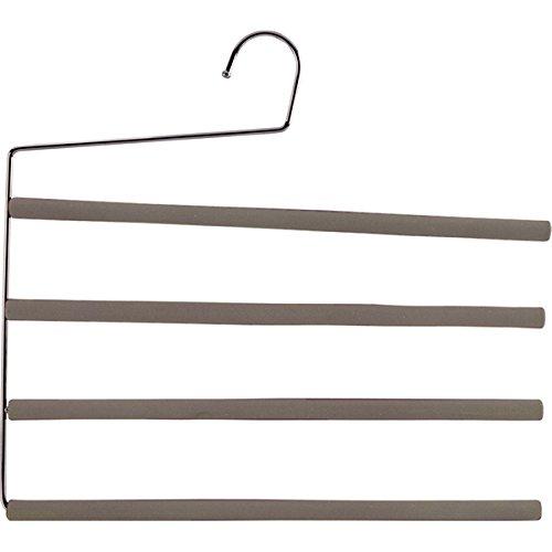 M-Home | Cintre Porte-Pantalons Antidérapant / 4 Barres | Métal | Taupe | 36 cm | MON8886