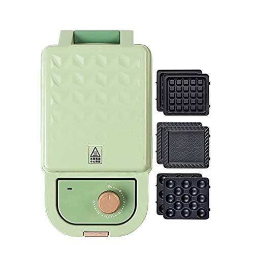 Bxiaoyan Máquina para Hacer gofres de Huevo 3 en 1, Temporizador de 30 Minutos, tostadora para sándwiches, máquina para Hacer Helados Panini Press (Color: Rosa) (Color : Green)