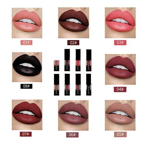 Btruely Lipliner Neue 18 Farben Wasserdicht Langlebige Flüssige Matte Lippenstift Make-Up Lipgloss Makeup Lippenstift (N)