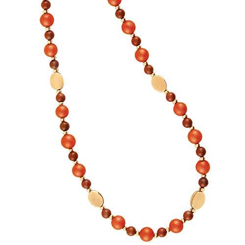 emanuel/Ungaro, Collar de Jade Natural con baño de Oro de 22 kilates.