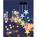 Color-Changing Wind Chime, Wishshopping Solar Power Wind Chimes Lights Hanging Lamp Night Light For Home, Party… 2