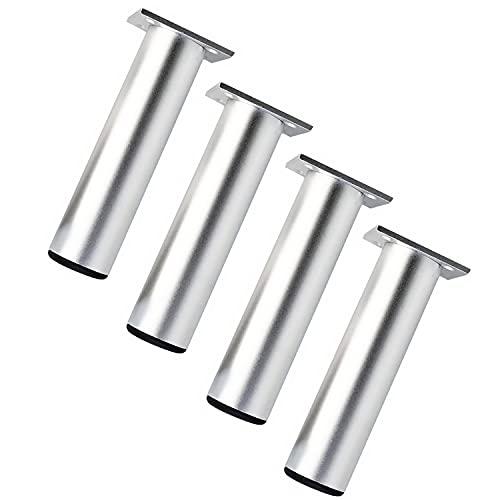 Qrity 4 Piezas Patas de Muebles Armario de Aleación de Aluminio Patas de Cocina Sofá Mesa de Metal 180mm