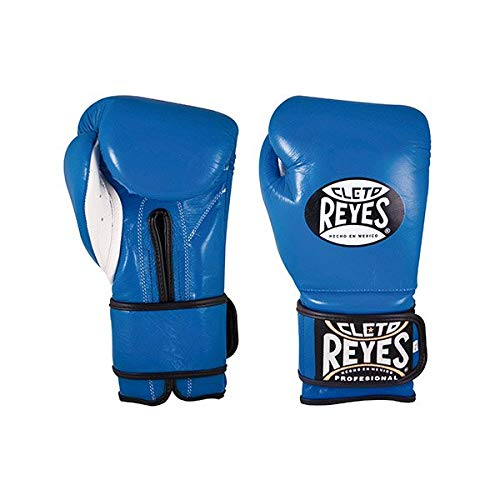 CLETO REYES * Gants de boxe en cuir bleu d'entraînement (396,9 g).