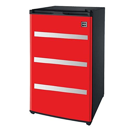 RCA RFR329-Red Garage Fridge Tool Box, 3.2 Cubic Feet, Red